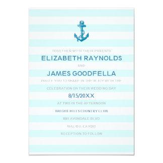 Invitaciones náuticas del boda del ancla formal anuncios personalizados