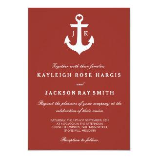 Invitaciones náuticas del boda el | que se casa comunicado
