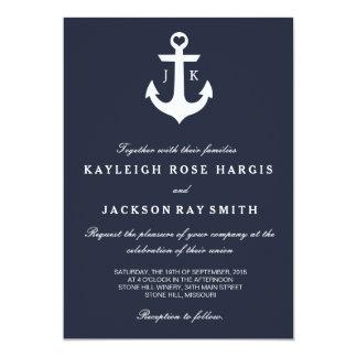 Invitaciones náuticas del boda el | que se casa invitacion personalizada