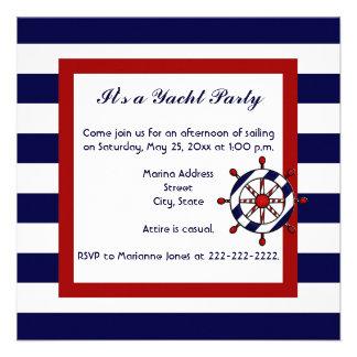 Invitaciones náuticas del fiesta comunicados personales