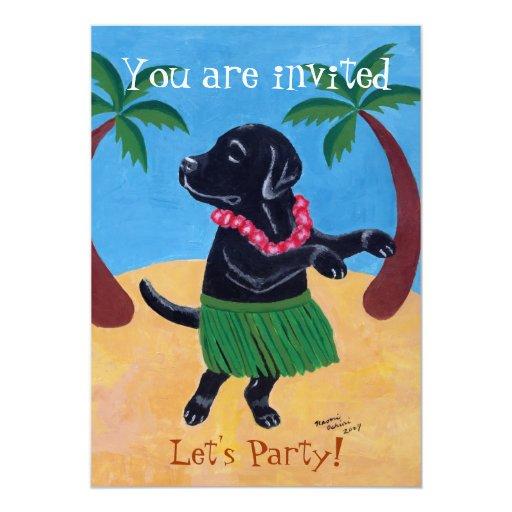 Invitaciones negras de la fiesta de cumpleaños de invitación 12,7 x 17,8 cm