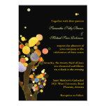 Invitaciones negras del boda de los árboles invitaciones personalizada