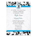Invitaciones negras del boda del ajuste del invitación 12,7 x 17,8 cm