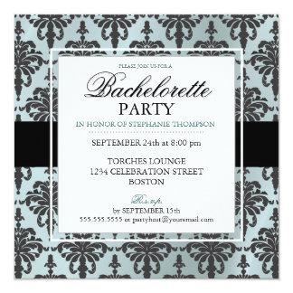 Invitaciones negras del fiesta de Bachelorette del Invitacion Personalizada