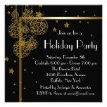 Invitaciones negras elegantes de la fiesta de Navi Invitacion Personal