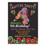 Invitaciones negras maravillosas del fiesta del pa invitaciones personales