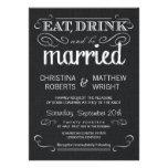 Invitaciones negras rústicas del boda del vintage  invitación personalizada