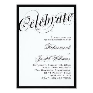 """Invitaciones negras y blancas elegantes del fiesta invitación 5"""" x 7"""""""