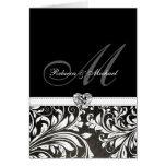 Invitaciones negras y blancas elegantes del monogr felicitacion