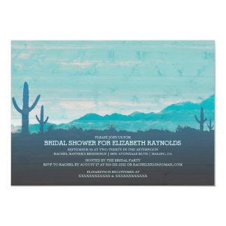 Invitaciones nupciales al sudoeste de la ducha invitación 12,7 x 17,8 cm