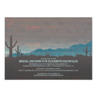 Invitaciones nupciales al sudoeste de la ducha del invitación 12,7 x 17,8 cm