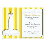 Invitaciones nupciales amarillas de encargo de la comunicados personalizados