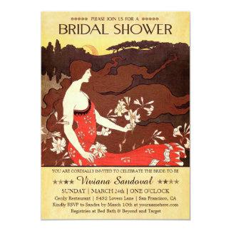 Invitaciones nupciales antiguas de la ducha del invitaciones personalizada