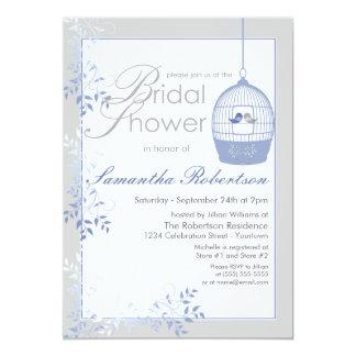 Invitaciones nupciales azules de la ducha de los invitación 12,7 x 17,8 cm