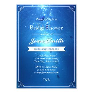 """Invitaciones nupciales azules submarinas elegantes invitación 5"""" x 7"""""""