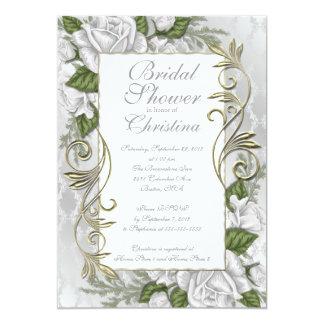 Invitaciones nupciales color de rosa de plata invitación 12,7 x 17,8 cm