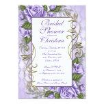 Invitaciones nupciales color de rosa púrpuras invitaciones personalizada