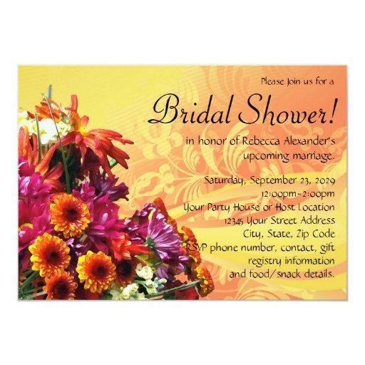Invitaciones nupciales coloridas de la ducha del invitación 12,7 x 17,8 cm