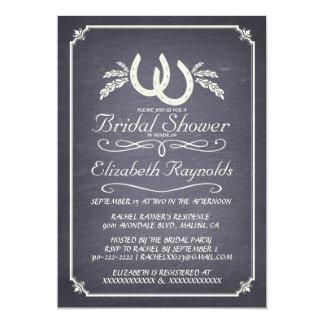 Invitaciones nupciales de herradura de la ducha invitación 12,7 x 17,8 cm