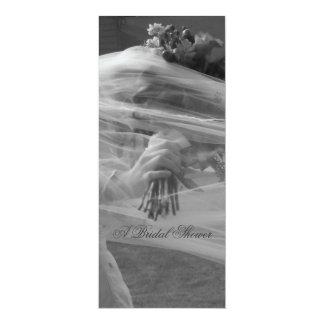 """Invitaciones nupciales de la ducha [4,25"""" x 9""""] invitación 10,1 x 23,5 cm"""
