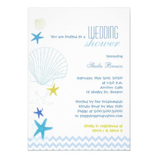 Invitaciones nupciales de la ducha de Chevron del Invitación 12,7 X 17,8 Cm