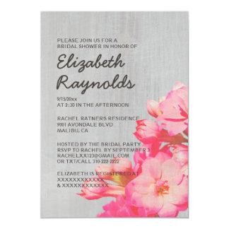 Invitaciones nupciales de la ducha de Kalanchoe Comunicado Personalizado