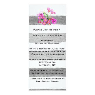 """Invitaciones nupciales de la ducha de la acuarela invitación 4"""" x 9.25"""""""