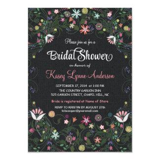 Invitaciones nupciales de la ducha de la arpillera invitación 11,4 x 15,8 cm