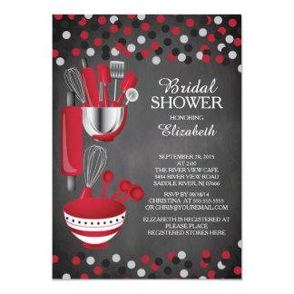 Invitaciones nupciales de la ducha de la cocina invitación 12,7 x 17,8 cm