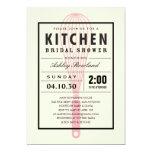 Invitaciones nupciales de la ducha de la cocina anuncios