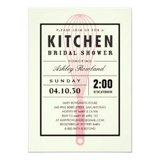"""Invitaciones nupciales de la ducha de la cocina invitación 5"""" x 7"""""""