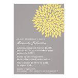 Invitaciones nupciales de la ducha de la flor comunicados