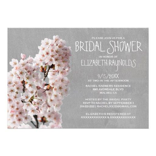 Invitaciones nupciales de la ducha de la flor de c comunicado personalizado