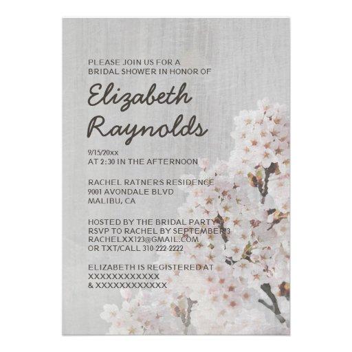 Invitaciones nupciales de la ducha de la flor de c