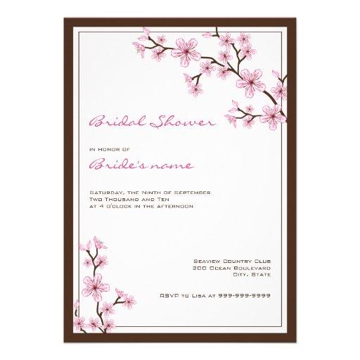 Invitaciones nupciales de la ducha de la flor de c anuncio personalizado