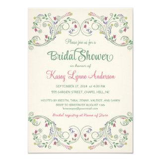 Invitaciones nupciales de la ducha de la guirnalda invitación 11,4 x 15,8 cm