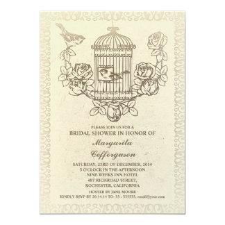 invitaciones nupciales de la ducha de la jaula de invitación 12,7 x 17,8 cm