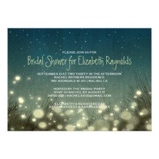 Invitaciones nupciales de la ducha de la luz del j