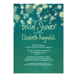 Invitaciones nupciales de la ducha de la luz rústi