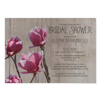 Invitaciones nupciales de la ducha de la magnolia invitacion personal