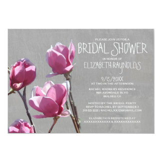 Invitaciones nupciales de la ducha de la magnolia invitaciones personales