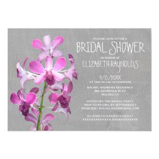 """Invitaciones nupciales de la ducha de la orquídea invitación 5"""" x 7"""""""