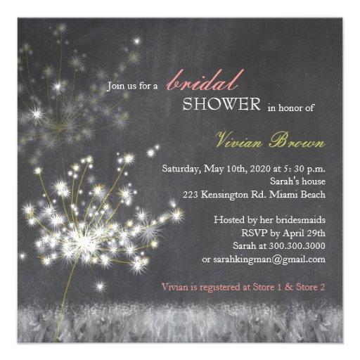 Invitaciones nupciales de la ducha de la pizarra anuncios
