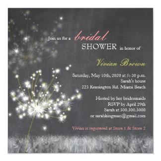 Invitaciones nupciales de la ducha de la pizarra invitación 13,3 cm x 13,3cm