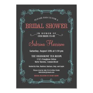 Invitaciones nupciales de la ducha de la pizarra invitacion personal