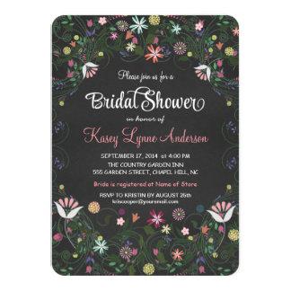 Invitaciones nupciales de la ducha de la pizarra invitación 11,4 x 15,8 cm