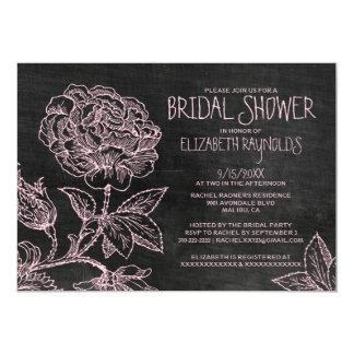 Invitaciones nupciales de la ducha de la pizarra comunicados personalizados