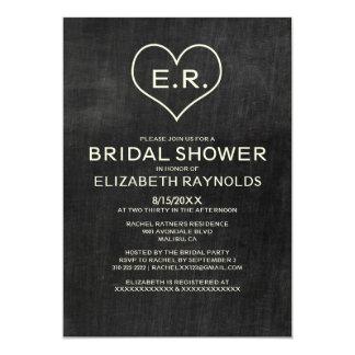Invitaciones nupciales de la ducha de la pizarra comunicado personalizado