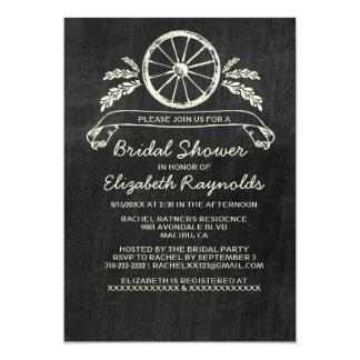 Invitaciones nupciales de la ducha de la pizarra invitación
