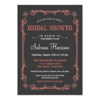 Invitaciones nupciales de la ducha de la pizarra anuncios personalizados